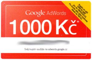 Kupón Google AdWords: 1000 Kč